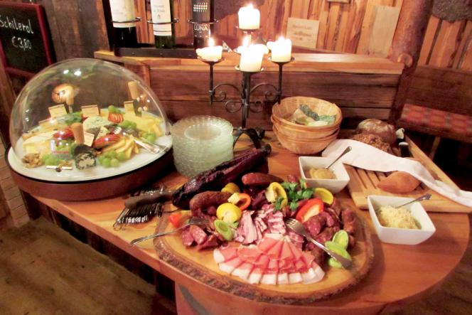 Buffet at wine cellar